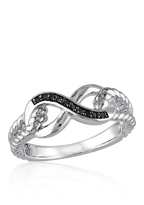 Belk & Co. Black Diamond Infinity Ring in