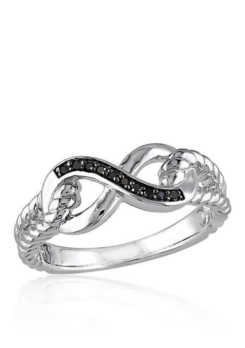 Belk & Co. Black Diamond Infinity Ring in