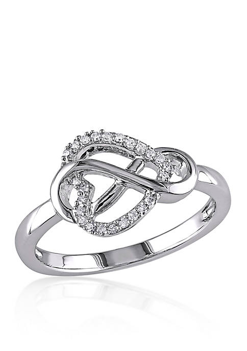 Belk & Co. Diamond Heart Infinity Ring in