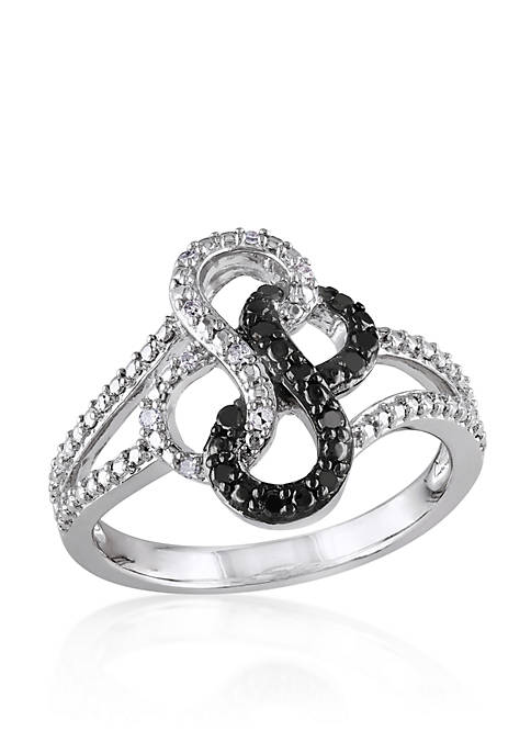 Belk & Co. Black and White Diamond Double