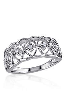 Diamond Vintage Band in Sterling Silver