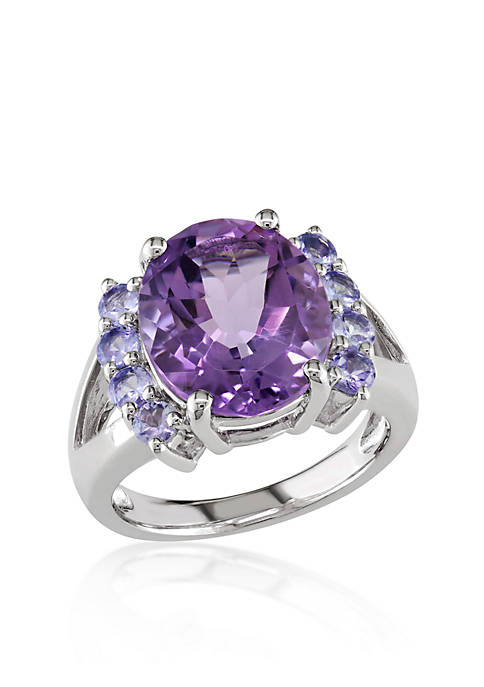 Belk & Co. Amethyst and Tanzanite Ring in