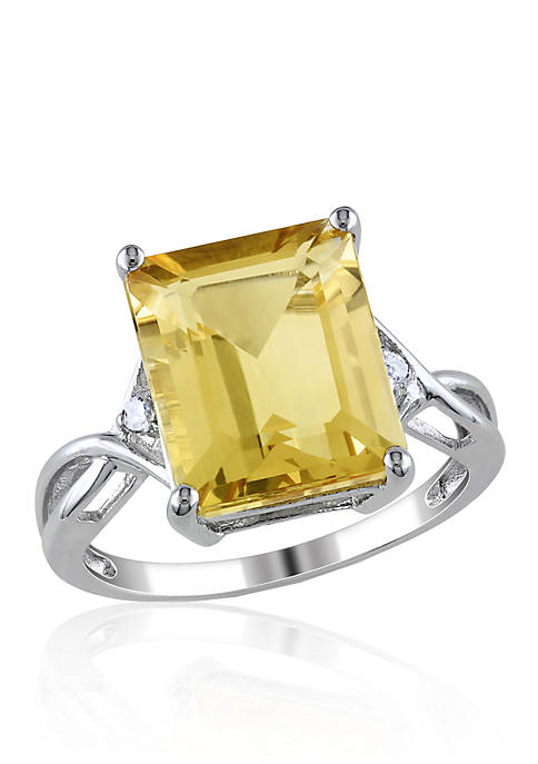 Belk & Co. Sterling Silver Citrine and White