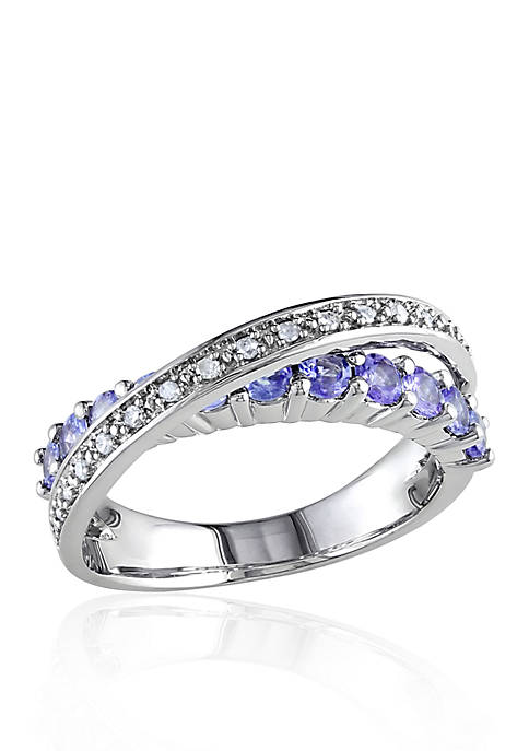 Belk & Co. Sterling Silver Tanzanite and Diamond