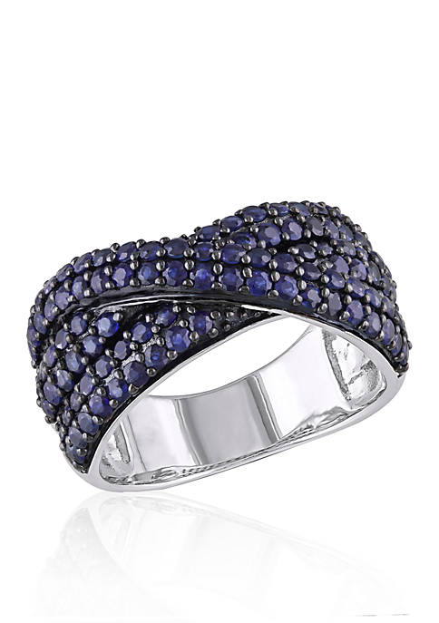 Belk & Co. Sapphire Crossover Band in Sterling
