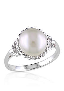 Belk & Co. Sterling Silver White Cultured Freshwater Pearl Ring