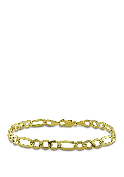 Belk & Co. Figaro Chain Bracelet in 10K