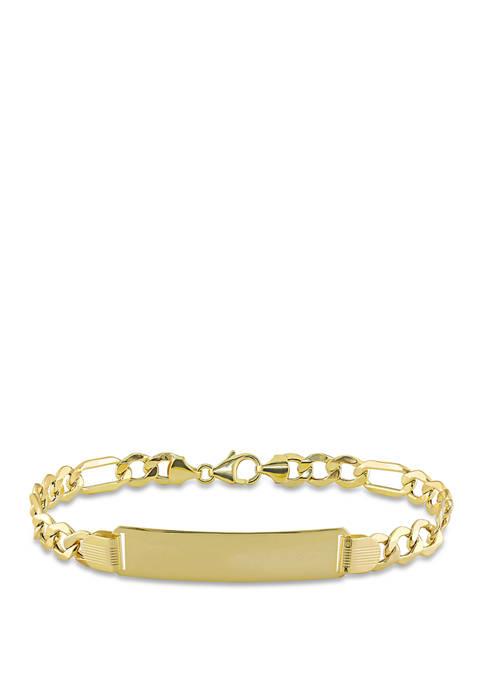 Belk & Co. Engravable Figaro Link ID Bracelet