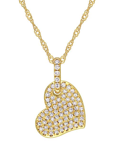 Belk & Co. 1/4 ct. t.w. Diamond Heart