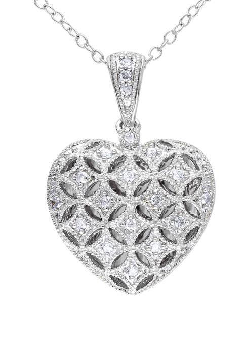 Belk & Co. 1/7 ct. t.w. Diamond Heart