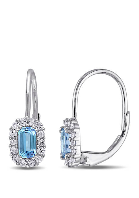 Belk & Co. Blue Topaz and White Sapphire