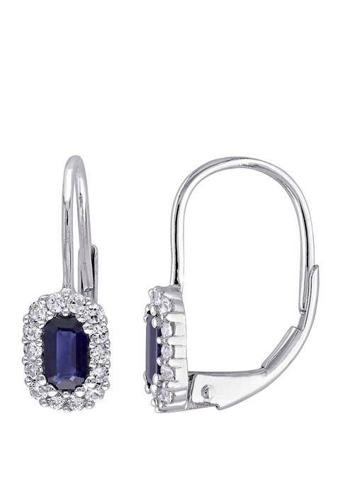 Belk & Co. Sapphire and White Sapphire Halo