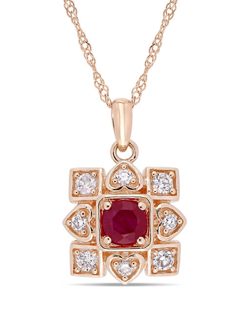 Belk & Co. 1/3 ct. t.w. Ruby and