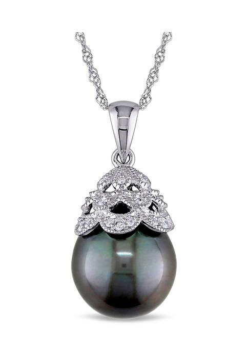 Belk & Co. 10-10.5 Millimeter Tahitian Cultured Pearl
