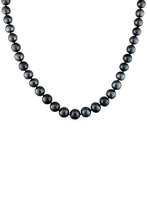8-10MM Natural-Shaped Tahitian Cultured Pearl Strand Necklace in 14K White Gold
