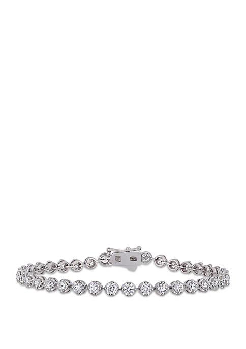 4.16 ct. t.w. Diamond Tennis Bracelet in 14k White Gold