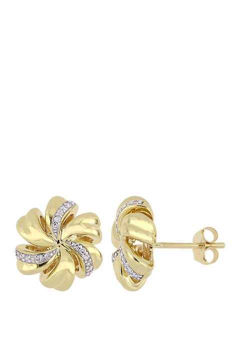 Belk & Co. 1/10 ct. t.w. Diamonds Floral