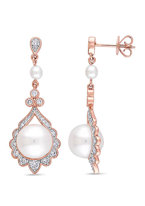 Belk & Co. Cultured Freshwater Pearl and 1/2