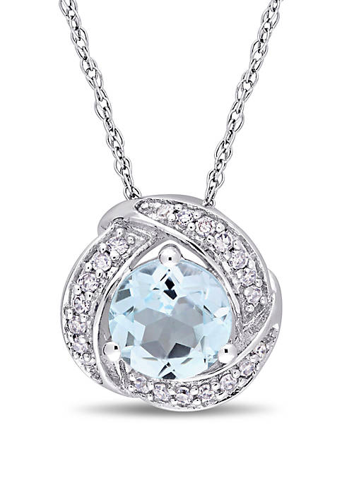 Belk & Co. Blue Topaz and 1/10 ct.