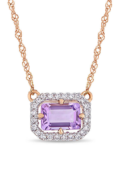 Belk & Co. Amethyst and 1/10 ct. t.w.