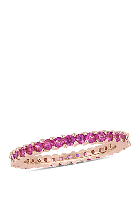 1.5 ct. t.w. Pink Sapphire Eternity Band in 14k Rose Gold