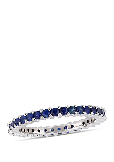 1.75 ct. t.w. Sapphire Eternity Ring in 14k White Gold