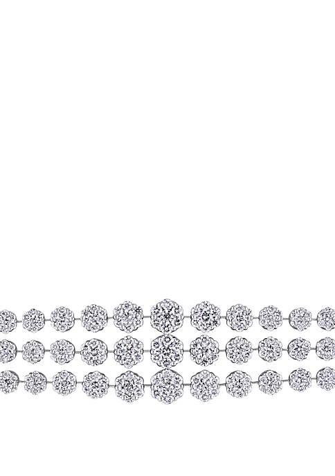 16.75 ct. t.w. Triple Row Diamond Tennis Bracelet in 18k White Gold