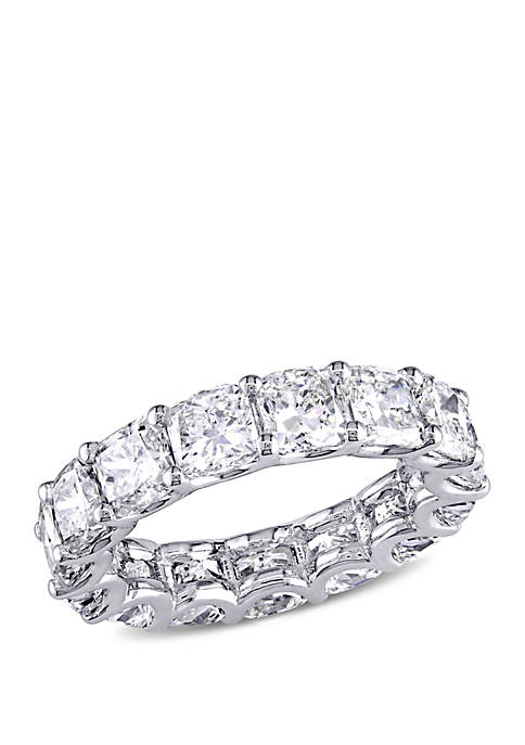 7.75 ct. t.w. Cushion Cut Diamond Full Eternity Band in 18k White Gold