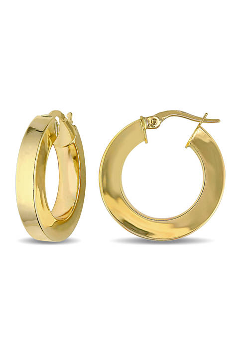 Belk & Co. Hoop Edged Earrings in 10K