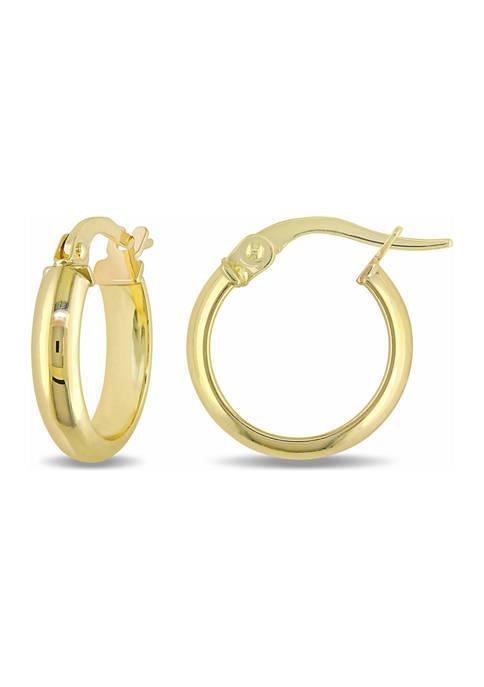 Belk & Co. 14 mm Hoop Earrings in