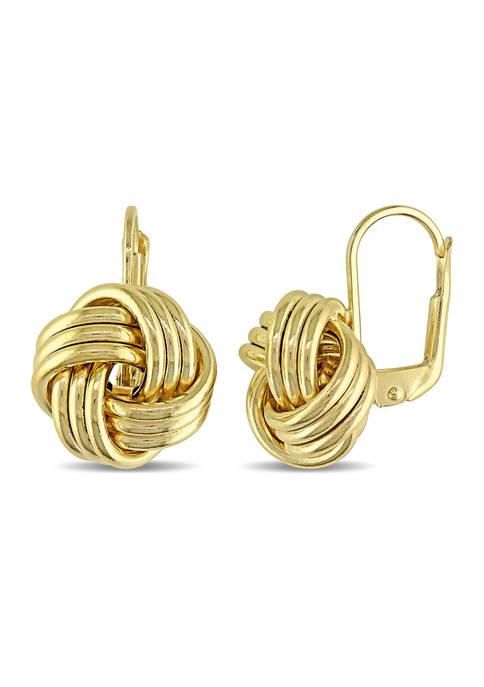Belk & Co. Entwined Love Knot Earrings in