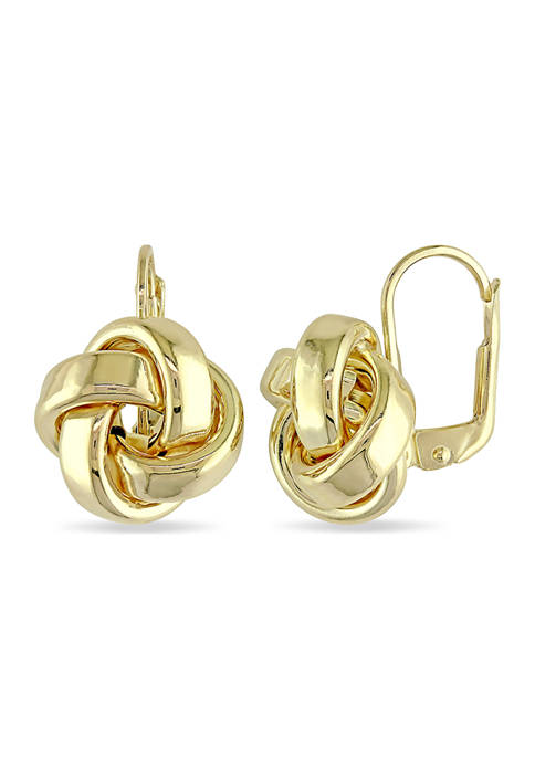 Love Knot Earrings in 10K Polished Yellow Gold