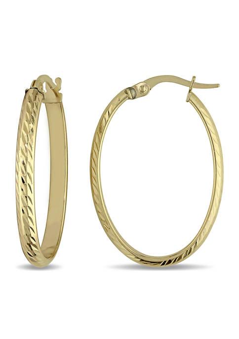 Belk & Co. Edged Hinged Hoop Earrings in