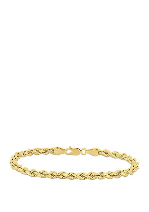 Belk & Co. Rope Chain Bracelet in 10K