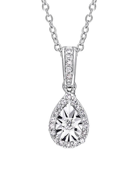 Belk & Co. 1/6 ct. t.w. Diamond Teardrop