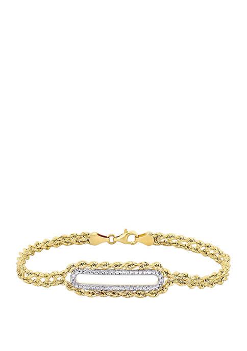 Belk & Co. Rope Link Bar Bracelet in