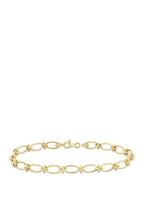 Belk & Co. Infinity Link Bracelet in 10K