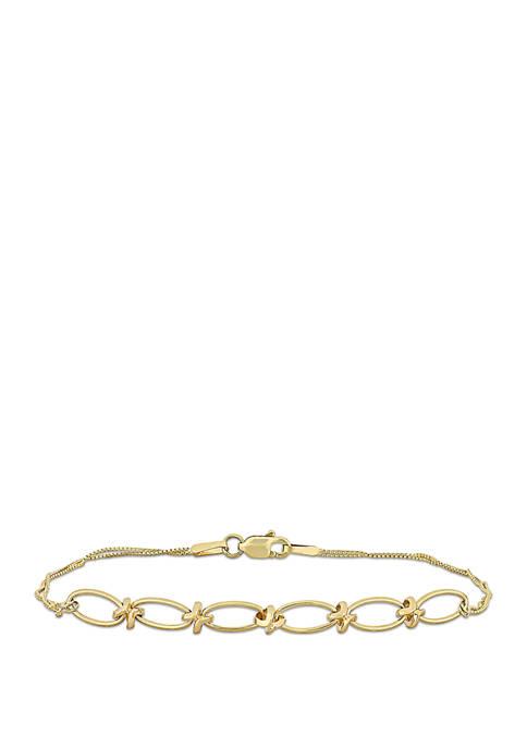 Belk & Co. Infinity Accent Bracelet in 10K