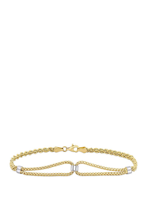 Belk & Co. Loop Bracelet in 10K Yellow