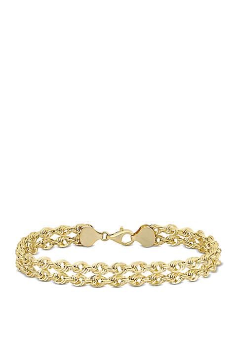 Belk & Co. Double Row Link Bracelet in