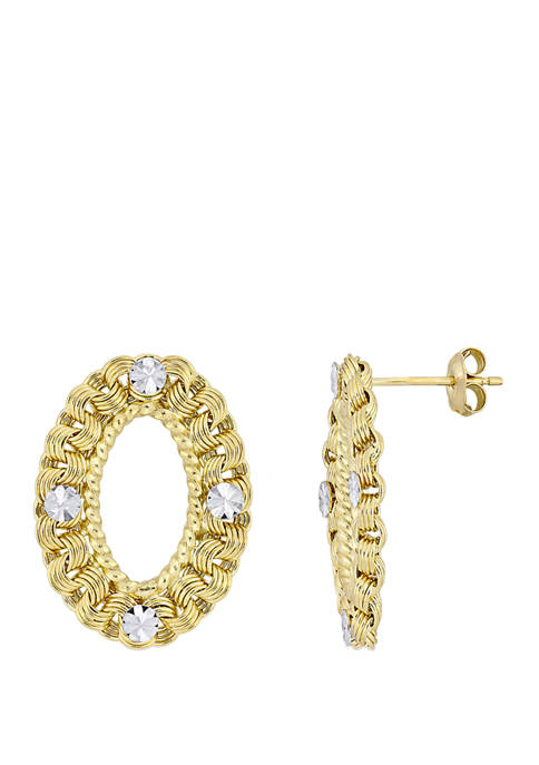 Belk & Co. Textured Hoop Drop Earrings in