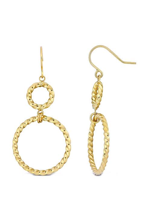 Belk & Co. Textured Hoop Dangle Hook Earrings