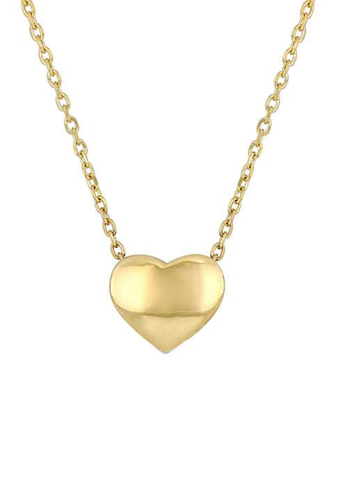 Belk & Co. Classic Heart Necklace in 10K