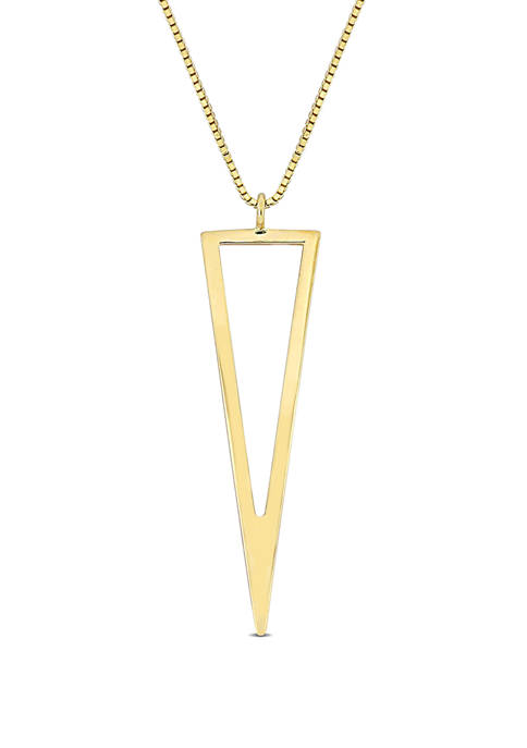 Belk & Co. Geometric Drop Necklace in 10K