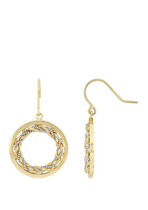 Belk & Co. Interlaced Hoop Dangle Earrings in