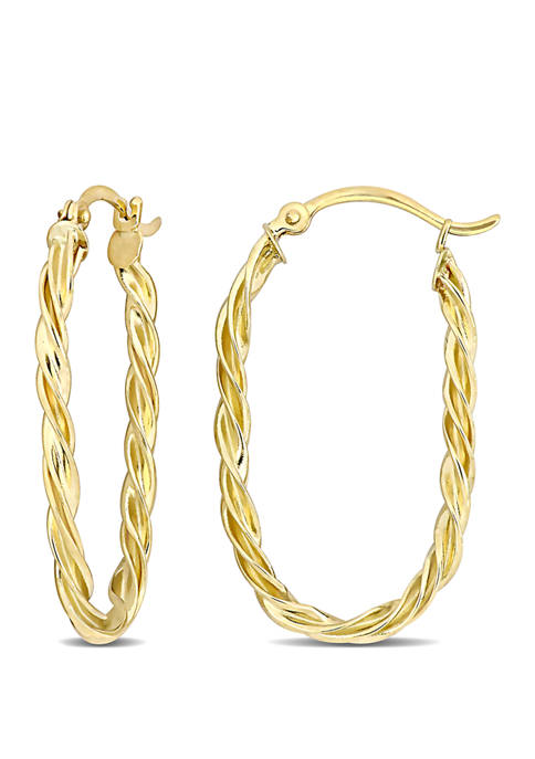 Belk & Co. Twist Hoop Earrings in 10k