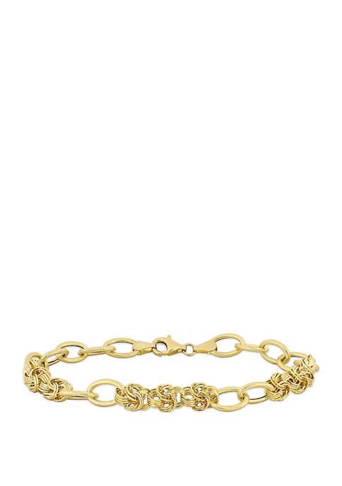 Belk & Co. Interlaced Link Bracelet in 14K