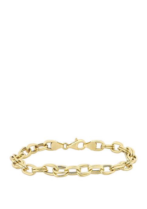 Belk & Co. Oval Link Bracelet in 14K