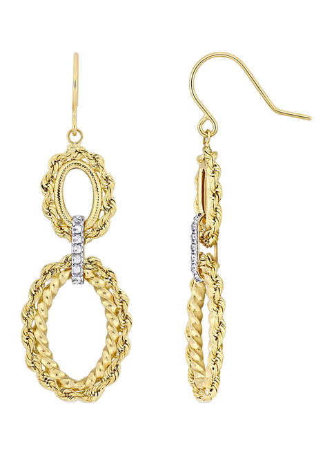 Belk & Co. Tiered Hoop Dangle Earrings in
