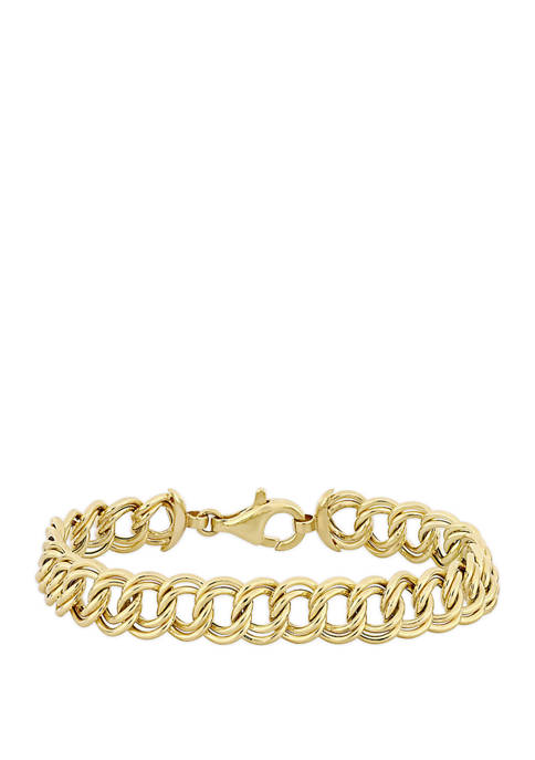 Belk & Co. Double Rolo Link Bracelet in